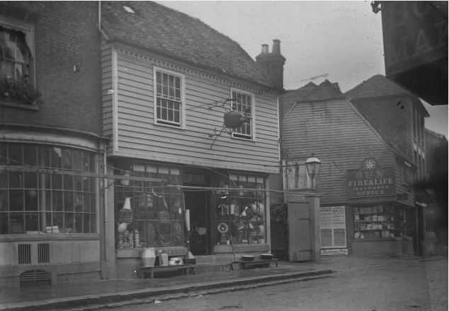 Coppersmith's shop, Cranbrook, England.  July, 1901.  Henry Wood Booth Papers, Cranbrook Archives.