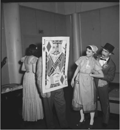 """Come as a Song"" party, 1942.  Cranbrook Archives."