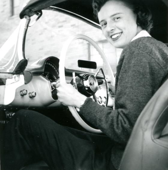 1998-02 Vanderbilt in car, c1950s (2)