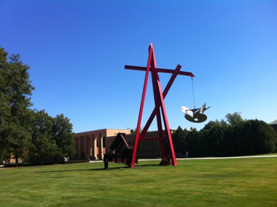 A different view. Mark Di Suvero, For Mother Teresa, 1998.  Cranbrook Art Museum.