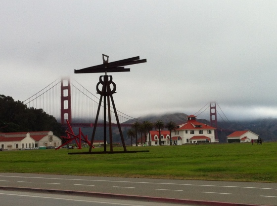 Mark Di Suvero's Dreamcatcher (2005-2012) at Crissy Field, 2013.