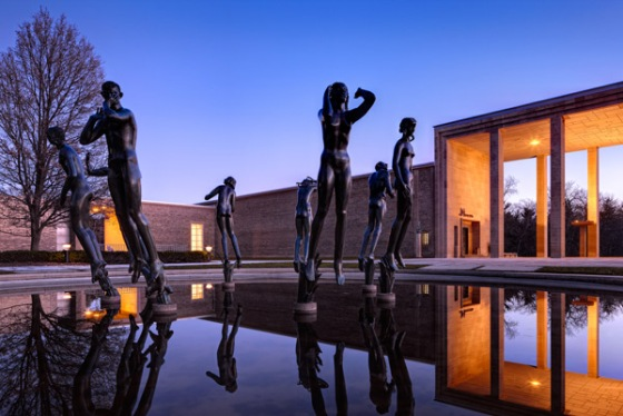 Carl Milles' Orpheus Fountain at Cranbrook Art Museum.