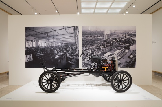 Model T Chassis, The Henry Ford.  On view in Michigan Modern at Cranbrook Art Museum.  September 2013, Shell Hensleigh/Cranbrook Art Museum.