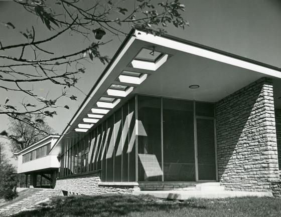 Wermuth House, Fort Wayne, Indiana.  Designed by Eliel and Eero Saarinen, 1941. Cranbrook Archives.