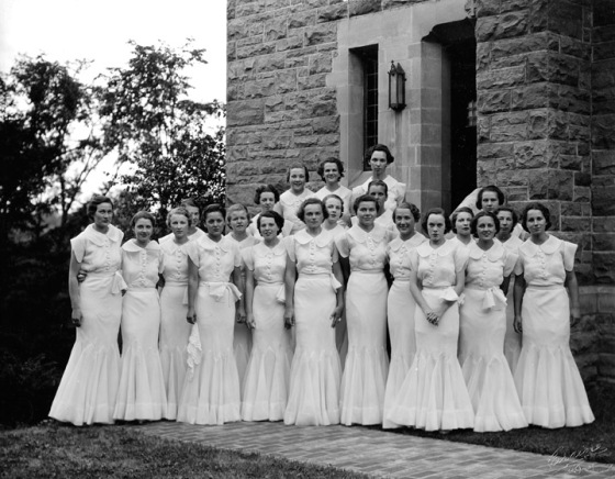 Kingswood graduation, class of 1934.  Cranbrook Archives.