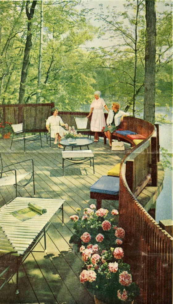 The patio for the Rothman residence, designed by Pipsan and J. Robert F. Swanson's eldest son Robert. 1957, Cranbrook Archives.