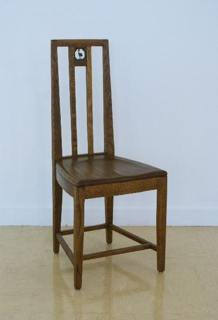 Cranbrook School Dining Hall side chair, designed by Eliel Saarinen in 1928.