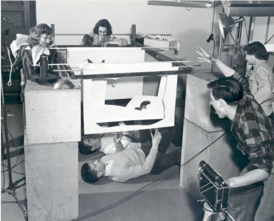 Cranbrook Academy of Art students participate in the filming of Jazz, CAA student Joe Munro's first experimental film. 1943, Cranbrook archives.