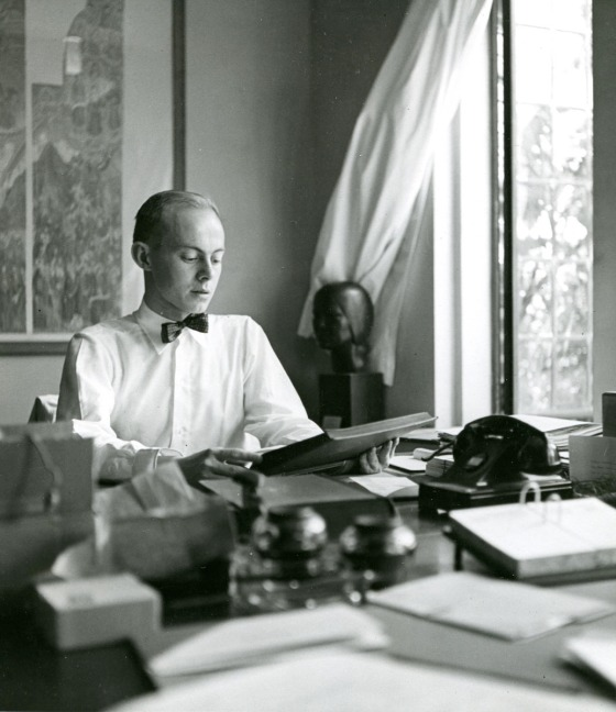 Robert S. Davis at Cranbrook, 1942. Cranbrook Archives.