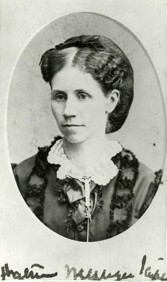 Harriet Messinger Scripps, circa 1872. Cranbrook Archives.