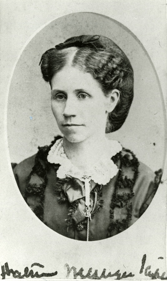 Harriet Messinger Scripps, circa 1872. Cranbrook Archives.