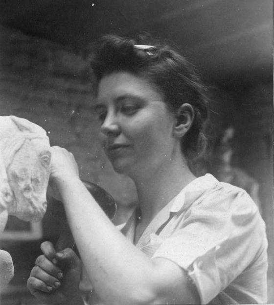 Nancy Leitch, circa 1940. Cranbrook Archives.