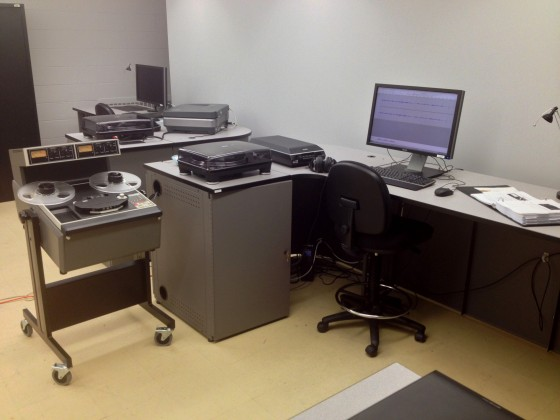 Digital Media Projects Lab at Wayne State, complete with Ampex ATR.