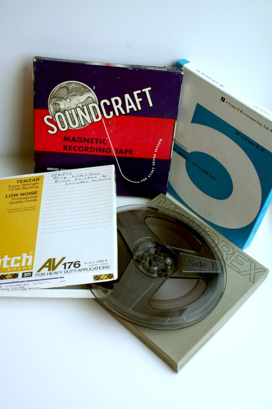 These are just a few of the reel-to-reel tapes from the collection. Justine Tobiasz/Cranbrook Archives