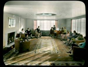 Kingswood School Rose Lounge. Cranbrook Archives