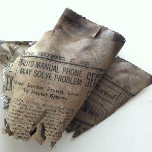 Detroit News, 1919. Photo Craig Hoernschemeyer.