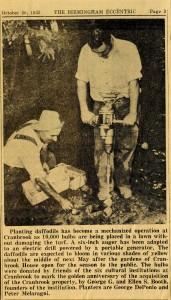 Birmingham Eccentric newsclipping, 1953