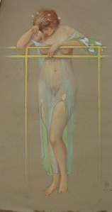 Study for Blessed Damozel, 1920.  James Scripps Booth