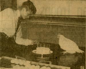 Early cottage occupant Esmerelda celebrates her birthday