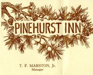 Logo for Pinehurst Inn, Indian River, 1940. Cranbrook Archives