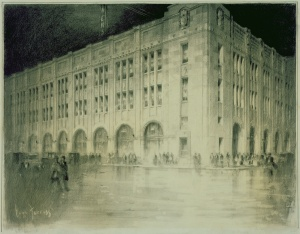 Drawing of the Detroit News Building. Courtesy Cranbrook Art Museum (CAM1955.400)