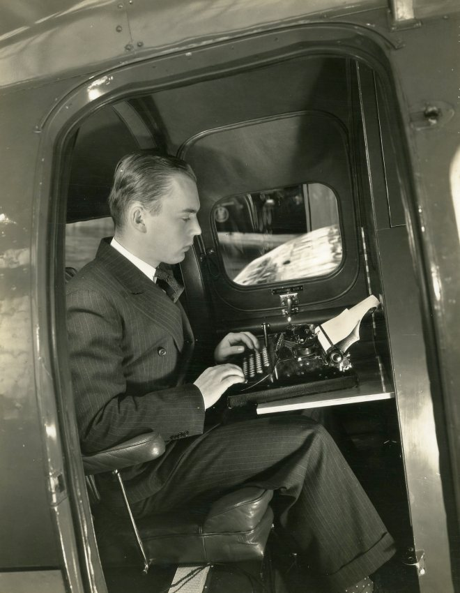 Stoddard White, Detroit News Employee, Oct 1935. Courtesy Cranbrook Archives, Lee A White Papers.