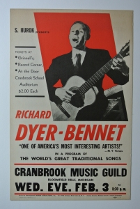Richard Dyer-Bennet poster