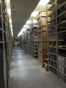 A view of just one of the storage areas at the Archives of Michigan.
