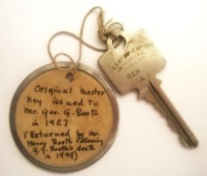 Cranbrook Schools original master key.