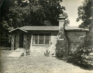 "Biggar and Hooker's home on Magnolia Avenue, Fairhope, AL. The studio was called ""Metalcraft Studio."" Photo courtesy Margaret Elleanor Biggar Scrapbook, Cranbrook Archives."