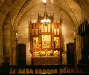 St. Paul Chapel reredos. Courtesy Cranbrook Archives.
