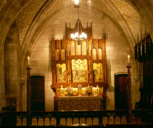St. Paul Chapel reredos. Courtesy Cranbrook Archives.