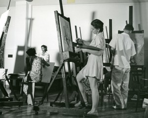 Painting and drawing class, summer 1940.