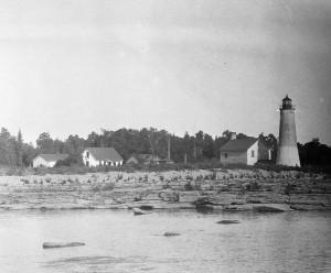 Thunder Bay Island Lighthouse, Jul 1929. W. Bryant Tyrrell, photographer. Courtesy Cranbrook Archives.