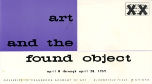 Exhibition card, 1959