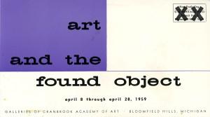 Exhibition card, 1959