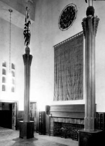 Cranbrook School Dining Hall, 1928. Peter A. Nyholm, photographer.