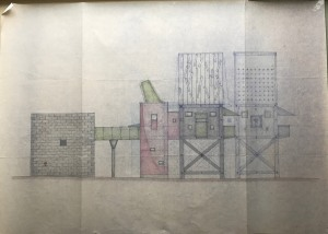 Exterior drawing, House of the Poet. Courtesy Cranbrook Archives.