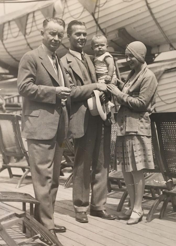 Eliel Bob Bobby Pipsan on the Gripsholm 1929