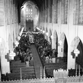 Festival of Gifts procession, Dec 1945.