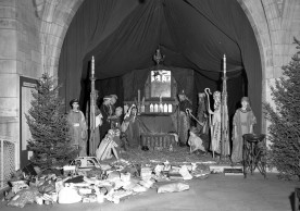 The nativity tableau, Dec 1945.