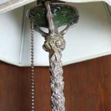 Detail of table lamp originally used in George G. Booth's Bedroom (CEC 124)
