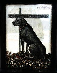 """""""Craig the Faithful"""" stained glass panel (CEC 137)"""