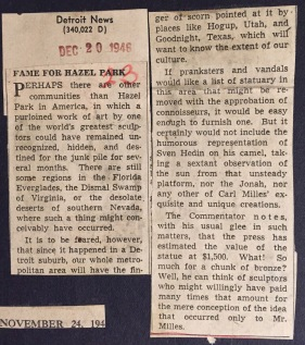 News Clipping, The Detroit News