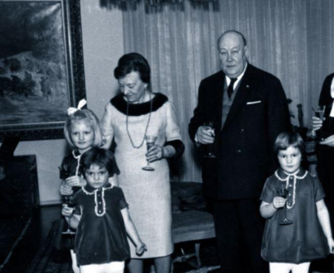 Greta Skogster and William Lehtinen and family