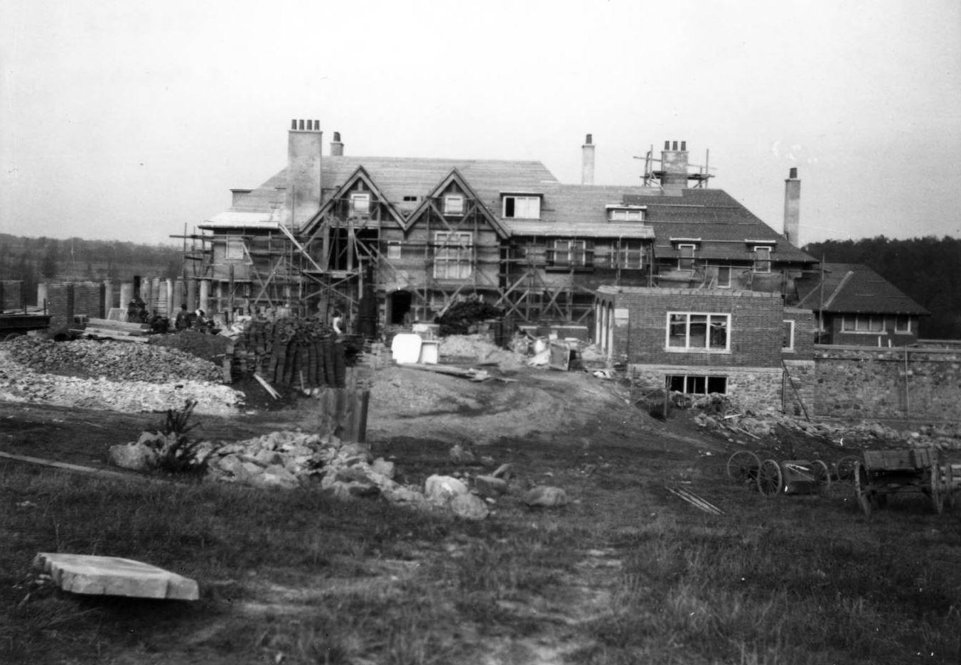 Cranbrook House Construction James Scripps Booth c 1907