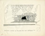 Smith House second Garden Gazebo plan c 1980 with Piano