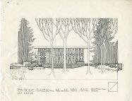 Smith House second Garden Gazebo plan c 1980