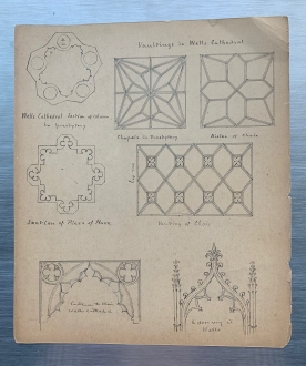 Scripps' sketches from Wells Cathedral in Somerset, England. Courtesy Cranbrook Archives.