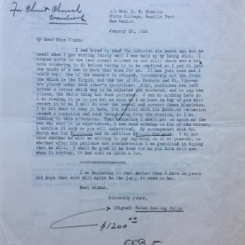 Correspondence of Helen Keeling Mills, Helen Plumb, and George Gough Booth, January 26, 1928, and February 8,1928 George Gough Booth Papers, Detroit Society of Arts and Crafts 1914-1957 (1981-01, 12:19)